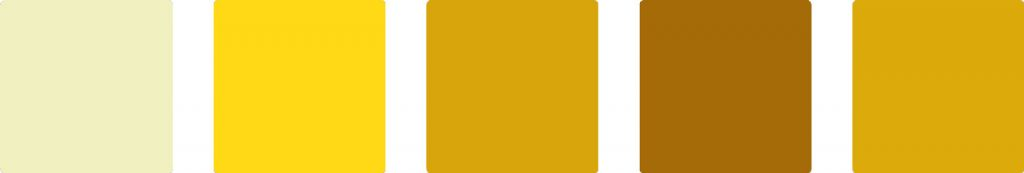 Yellow color palette